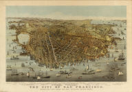 The city of San Francisco. Birds eye view from the bay looking south-west. Sketched & drawn by C. R. Parsons. Copyright 1878, by Currier & Ives, N.Y. Published by Currier & Ives, 115 Nassau St., New York.