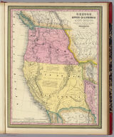 Oregon, Upper California & New Mexico. Published by S. Augustus Mitchell, N.E. corner of Market & 7th Sts. Philadelphia. 1849. Entered according to Act of Congress in the year 1845 by H.N. Burroughs in the ... District Court of the eastern district of Penna.