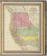 A new map of the state of California, the territories of Oregon & Utah, and the chief part of New Mexico. Entered according to Act of Congress in the year 1850 by Thomas, Cowperthwait & Co. in the ... District Court of the eastern district of Pennsylvania. (1852)