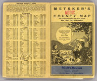 """(Covers to) Metsker's map of Modoc County, state of California. Compiled by Chas. F. Metsker ... It pays to have a few good maps. Buy the best of """"Metsker the Map Man"""" ... Copyrighted By Chas. F. Metsker ... Printing by """"Metsker the Map Man"""". (1952?)"""