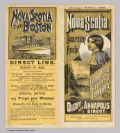 (Covers to) Nova Scotia excursion route. International Steamship Company. 1888. Digby and Annapolis direct. Summer edition, 1888. Rand Avery Supply Co., Printers, Boston.