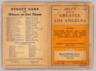 (Covers to) Map of Los Angeles, California. Copyright, by E.F. Hill.