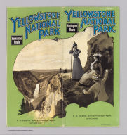 (Covers to) Burlington Route - Northern Pacific Railway. Yellowstone National Park. Copyrighted, 1898, by Poole Bros., Chicago ... (1901)