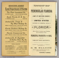(Title Page to) Township map of Peninsular Florida issued by the Associated Railway Land Department of Florida. 1890 ... Copyright, 1890, for the Associated Railway Land Department of Florida, By D.H. Elliott, General Land Agent. Matthews, Northrup & Co. Buffalo, New York.