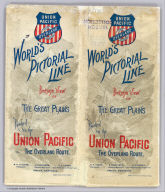 (Covers to) World's pictorial line. Birdseye view of the Great Plains reached via the Union Pacific. The Overland Route ... Knight, Leonard & Co., Printers, Chicago.