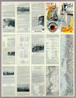 (Text Page to) The Yellowstone National Park via Northern Pacific Railway. Northern Pacific, Yellowstone Park Line. Puget Sound and Alaska. (inset) Northern Pacific Railway and connections. Poole Bros., Chicago. (inset of steamship routes to southeastern Alaska from Puget Sound)