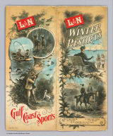 (Covers to) L&N winter resorts. L&N Gulf Coast sports. Poole Bros. Chicago. (1890?)