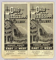 (Covers to) Ohio and Mississippi Railway. St. Louis, Louisville, Cincinnati. Direct route between the east and west ... Jan. 1st., 1883. American Bank Note Company, 142 Broadway, New York.