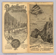 (Covers to) Pacific Coast Steamship Co. February to May 1896, Inc. ... Goodall Perkins & Co. General Agents, 10 Market Street, San Francisco, Cal. Ticket Office 4 New Montgomery St. Palace Hotel, San Francisco, Cal.