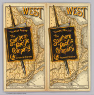"(Covers to) ""Sunset Route"" The Southern Pacific Company Atlantic System. West. Poole Bros. Printers and Engravers, Chicago. (1884)"