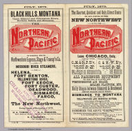 (Covers to) Black Hills, Montana, Upper Missouri and Yellowstone Rivers, Northern Dakota and Minnesota, the Northern Pacific Rail Road in connection with the Northwestern Express, Stage & Transp'n Co. ... During season of navigation of 1879 ... July, 1879. Rand, McNally & Co., Printers, 77 and 79 Madison Street, Chicago.