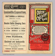 (Covers to) Queen & Crescent Route. Cincinnati, New Orleans & Texas Pacific Railway ... Between Ohio River and the Gulf direct trunk line. September 15th, 1885. The A.H. Pugh Printing Co.