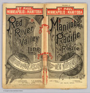 (Covers to) St. Paul, Minneapolis & Manitoba Ry. Red River Valley Line through the park region ... 2 +87. Matthews, Northrup & Co., Art-Printing Works, Buffalo, N.Y.