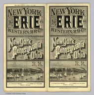 (Covers to) New York, Lake Erie and Western R.R. Co. New York, Pennsylvania & Ohio R.R. .. Poole Bros., Printers and Engravers, Chicago. Time table in effect August 21st. 1887.