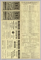 (Text Page to) New York, Lake Erie and Western R.R. Co. New York, Pennsylvania & Ohio R.R. .. Poole Bros., Printers and Engravers, Chicago. Time table in effect August 21st. 1887.