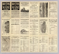 (Text Page to) Boston & Maine Railroad ... The only route from the east to Boston via Scarboro, Old Orchard, and Wells Beaches ... Geo. H. Ellis, Pr., Boston.