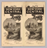 (Covers to) New York Central and Hudson River Railroad. The Great 4 Track Route. (N.Y. August 14, 1885.) American Bank Note Co., N.Y.