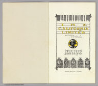 (Title Page) The California Limited. Pictures by C.D. Williams. 1903-1904 Santa Fe. Copyright, 1903, by Geo. T. Nicholson.