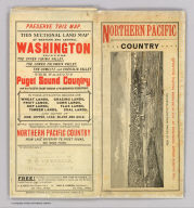 (Covers to) Map showing land grant of the Northern Pacific Railroad Co. in Western Washington and Northern Oregon. Corrected up to August 20, 1888 ... Matthews, Northrup & Co., Art-Printing Works, Buffalo, N.Y.