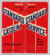 (Covers to) 1935 road map Oregon. Prepared exclusively for Standard Oil Company of California. Copyrighted by the H.M. Gousha Company, Chicago, Ill. Made in U.S.A. Standard unsurpassed gasoline ...