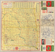 Texaco road map North Dakota, South Dakota ... (inset) Yellowstone National Park. Copyright by Rand McNally & Company ... (inset) Waterton-Glacier International Peace Park, Glacier Park Section ... (1937)