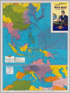 Map of the Far East. Map of Southern Europe, the Mediterranean Area and the Near East. Copyright by Rand McNally & Company, Chicago ... (1942)