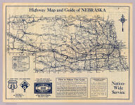 Highway map and guide of Nebraska. Copyright by Mid-West Map Co., Aurora, Mo. ... (192-?)