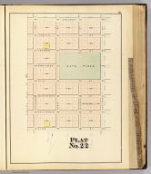 Plat no. 22 (San Francisco. (Compiled and published by Wm. P. Humphreys & Co., A.B. Holcombe, W.C. Kewen. Eng. by Worley & Bracher ... Phila, Pa. Printed by F. Bourquin ... Phila, Pa. 1876.)