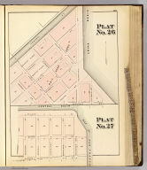 Plat no. 26. Plat no. 27 (San Francisco. (Compiled and published by Wm. P. Humphreys & Co., A.B. Holcombe, W.C. Kewen. Eng. by Worley & Bracher ... Phila, Pa. Printed by F. Bourquin ... Phila, Pa. 1876.)