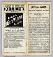 (Covers to) Answers to your questions about Central Dakota reached by the Chicago and North-Western Railway ... 3-16-88 ... Rand, McNally & Co, Printers, Chicago.