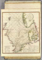 The North Sea with the Kattegat, from the chart of Messrs. De Verdun, De Borda, and Pingre, made public in 1777, by order of Louis XVI, constructed on a larger scale and with considerable additions and emendations by L.S. De la Rochette, M.DCC.XCVI. London, published by W. Faden, Geographer to the King and to H.R.H. the Prince of Wales. Charing Cross, June 1796. Engraved by Thomas Foot.