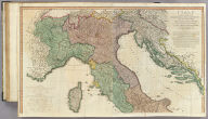 Italy with the addition of the southern parts of Germany as far as Pettau in Stiria, Murlakia, Dalmatia, the adjacent countries, and all the Illyric Islands, by L.S. De la Rochette. (North sheet). 2d. edition describing the new divisions. London, published by Willm. Faden, Geographer to the King and to H.R.H. the Prince of Wales, Charing Cross, Septr. 12th, 1800.