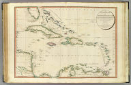A general chart of the West India Islands with the adjacent coasts of the Spanish continent, by L.S. de la Rochette. M. DCCXCVI. London, published by W. Faden, Geographer to the King, and to H.R.H. the Prince of Wales, September 22d., 1796.