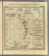 A chart of the Antilles, or Charibbee, or Caribs Islands, with the Virgin Isles, by L.S. de la Rochette, MDCCLXXXIV. London: published by Wm. Faden, Geographer to the King, Charing-Cross, March 1st, 1784. W. Palmer, sculp.