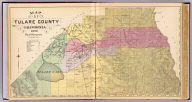 Map of Tulare County, California. 1892. Thos. H. Thompson, Tulare, Cal.