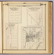 Township 16 South, Range 22 East, Tulare Co., California. (with) Map of Mt. Whitney Colony ... (with) Map of Level Orchard Land Colony ... (with) Map of Mack's Addition to Orosi Colony ... (Compiled, drawn and published by Thos. H. Thompson, Tulare, Cal., 1892)