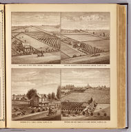 Fruit ranch of Routt Bros., Lemoore ... Ranch and residence of Fred. McLaughlin, Lemoore ... Residence of E.J. Dibble, Lakeside ... Residence and fruit ranch of W.H. Camp, Hanford ... (all) Tulare Co., Cal. (1892)