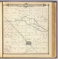 Township 17 South, Range 25 East, Tulare Co., California. (Compiled, drawn and published by Thos. H. Thompson, Tulare, Cal. 1892)