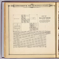 Map of Hanford, Tulare County. (Compiled, drawn and published by Thos. H. Thompson, Tulare, Cal. 1892)