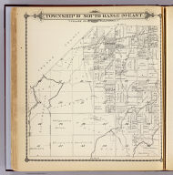 Township 19 South, Range 20 East, Tulare Co., California. (Compiled, drawn and published by Thos. H. Thompson, Tulare, Cal. 1892)