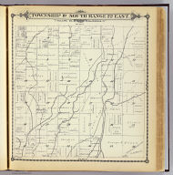 Township 19 South, Range 22 East, Tulare Co., California. (Compiled, drawn and published by Thos. H. Thompson, Tulare, Cal. 1892)