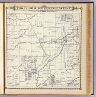 Township 19 South, Range 24 East, Tulare Co., California. (Compiled, drawn and published by Thos. H. Thompson, Tulare, Cal. 1892)