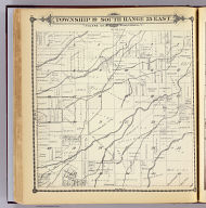 Township 19 South, Range 25 East, Tulare Co., California. (Compiled, drawn and published by Thos. H. Thompson, Tulare, Cal. 1892)