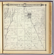 Township 19 South, Range 26 East, Tulare Co., California. (Compiled, drawn and published by Thos. H. Thompson, Tulare, Cal. 1892)