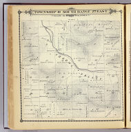 Township 19 South, Range 27 East, Tulare Co., California. (Compiled, drawn and published by Thos. H. Thompson, Tulare, Cal. 1892)