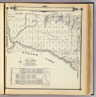 Township 20 South, Township 21 South, Range 20 East, Range 21 East, Tulare Co., California. (with) Map of Plano, Tulare Co. (Compiled, drawn and published by Thos. H. Thompson, Tulare, Cal. 1892)