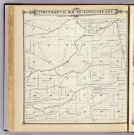 Township 21 South, Range 24 East, Tulare Co., California. (Compiled, drawn and published by Thos. H. Thompson, Tulare, Cal. 1892)