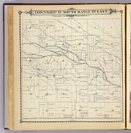 Township 21 South, Range 26 East, Tulare Co., California. (Compiled, drawn and published by Thos. H. Thompson, Tulare, Cal. 1892)