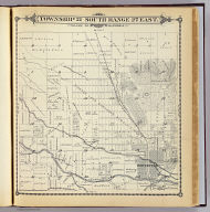 Township 21 South, Range 27 East, Tulare Co., California. (Compiled, drawn and published by Thos. H. Thompson, Tulare, Cal. 1892)