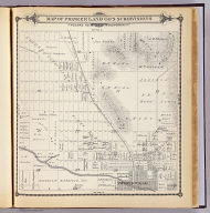 Map of Pioneer Land Co.'s subdivisions, Tulare Co., California. (Compiled, drawn and published by Thos. H. Thompson, Tulare, Cal. 1892)